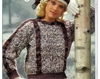 Snowflake and Crystal Knit Pattern Booklet Brunswick Vol 8510