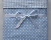 Flannel baby blanket blue receiving blanket XL reversible toddler blanket boy blanket gender neutral baby gift baby bedding crib blanket