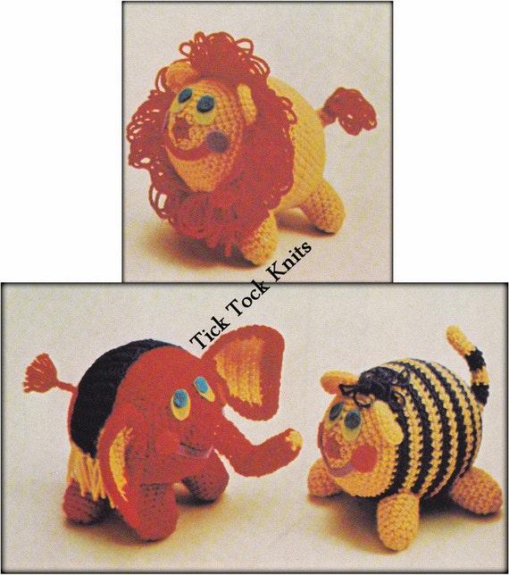 Amigurumi Zoo Animals : No crochet toy pattern pdf zoo animals amigurumi