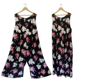 Plus Size Jumper Plus Size Romper Plus Size Jumpsuit Wide Leg Jumpsuit 90s Jumpsuit 90s Jumper Floral Jumpsuit Plus Size Clothing Clothes