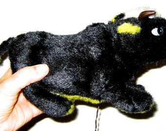 Vintage Alps bull made in Japan battery walking plush toy