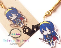 Crystal Clear Acrylic straps charm: Fire Emblem Awakening Lucina game