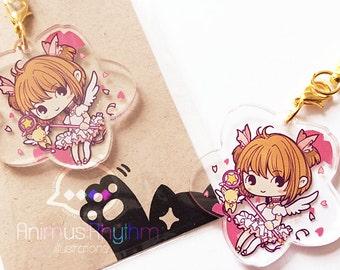 Crystal Clear Acrylic straps charm: Card Captor Sakura, anime CCS, kero