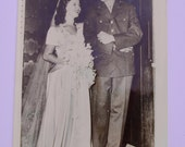 Shirley Temple Wedding  Official Associated Press Black and White Photograph October 1945 Vintage Photograph Antique Photograph