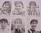 18 Racing Blue Australia Horse Racing Cards Photos of Horses and Jockeys Vintage Ephemera Steeplechase Hurdles Grand National Horse Racing
