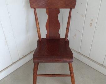 Antique Wooden Chair Primitive Farmhouse Primitive Country Kitchen FedEx  Should Ship For Less