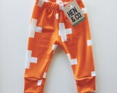 BABY and TODDLER Orange LEGGINGS - Orange Plus Leggings