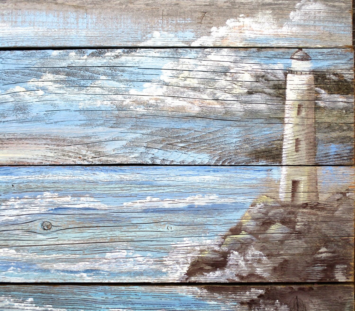 lighthouse sign hand painted on barnwood costal beach art. Black Bedroom Furniture Sets. Home Design Ideas