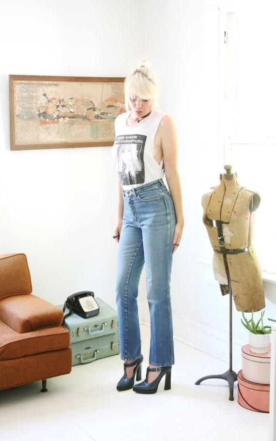 Vintage 70s Calvin Klein Jeans High Waisted High Rise Denim Straight Leg