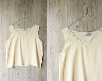 vintage vanilla silk top