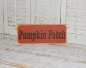 Fall Decor Pumpkin Patch Sign Fall Sign  Rustic Country Sign