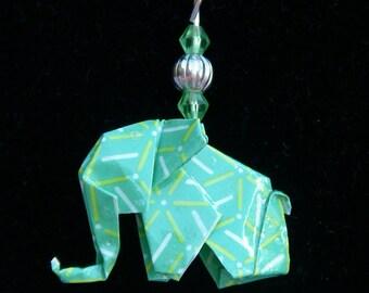 Origami Elephant Pendant Necklace