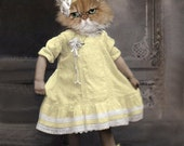 Sunny, Vintage Cat Print, Anthropomorphic, Altered Photo. Funny Cat Print, Photo Collage Art, Whimsical Art, Gift for Cat Lover, Cat Art