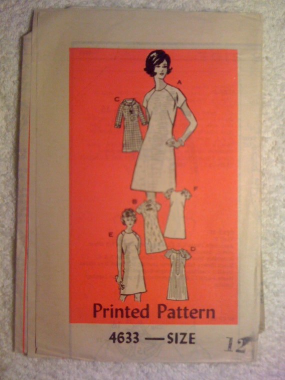 Anne Adams Mail Order Sewing Pattern 4633 Vintage 50s Misses Dresses Size 12