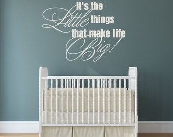 Nursery Wall Sayings Etsy - Baby nursery wall decals sayings