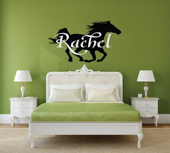 horse wall decal horse decor personalized horse horse art horse nursery - Horse Decor