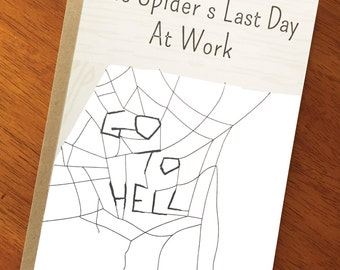 Funny Goodbye Card; Spider's Last Day at Work; Cute Goodbye Co-worker Card; Goodbye Friend Card; Farewell New Job  Card