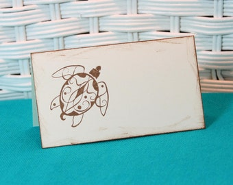 Handmade Set of 8 Sea Turtle Place Cards