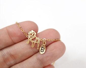 dog bracelet, Personalized bracelet,animal,initial bracelet, Personalized Jewelry, friendship bracelet, christmas gift,Bulldog bracelet