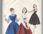 "1950's Butterick Princess-flare Dress, Skirt and Blouse pattern - UNCUT - Bust 34"" - No. 7455"