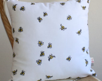 Busy Bees Hand block printed decorative scatter cushion cover