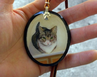 Custom Pet Portrait // Your Pet as Wearable Art // Made-to-Order from photo // Pet Loss Gift // Pet Keepsake // Commemorate Your Pet