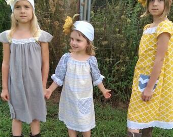 Sister Dresses | Coordinating Flower Girl Dresses | Boho Dresses | Family Photo Shoot | Ellie Ann and Lucy