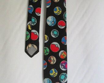 Nerdy Neckties - Pokeman Pokeball tie