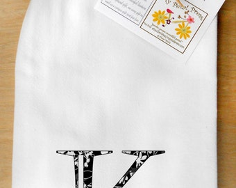 Flour Sack Tea Towels monograms