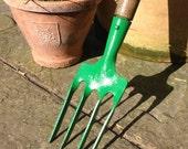 Garden fork, hand fork, digging fork, garden tool, vintage tool