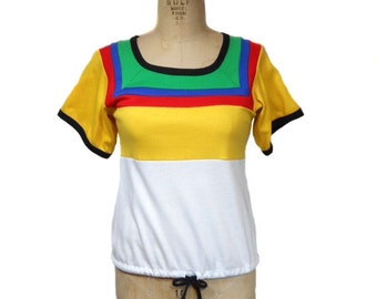 vintage 1970s rainbow t-shirt / Quote Me / cotton / vintage tee shirt / women's vintage t-shirt / tag size small