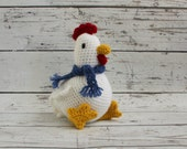 Chirp the Chicken, Crochet Chicken Stuffed Animal, Chicken Amigurumi, Plush Animal, MADE TO ORDER