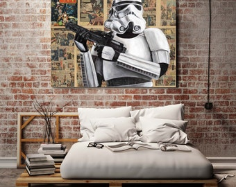 Canvas print of a Stormtrooper Large