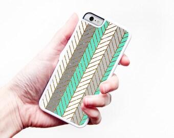 Glitter Chevron iPhone Case Chevron iPhone Case Mint Green iPhone 6 Case iPhone 5 Case iPhone 5C Case Chevron iPhone 5S Case Glitter 6