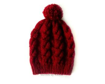 Slouchy Beanie, Winter Hat, Knit Beanie, Slouch Beanie, Slouchy Hat