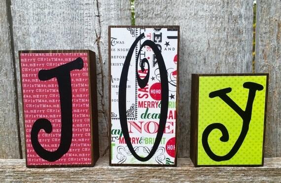 Christmas Decor Joy Letter Wood Blocks, Christmas Word Letter Chunky Wood Blocks Joy, Wood Letter Blocks Christmas Joy, Christmas Woodcrafts