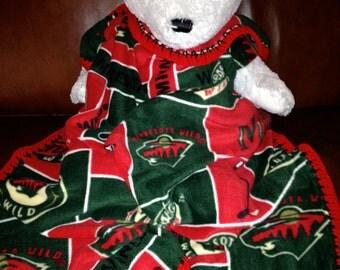 "Minnesota Wild Hockey Fleece Sports Baby Blanket 30X30"""