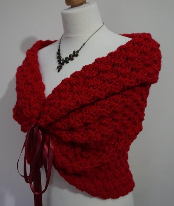 Vestito Matrimonio Rustico : Scialle rosso inverno sposa romantico copricostume