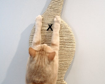 Scratch-My-Butt Cat Butt Scratcher. Wall-mounted super space saver sisal scratch pad