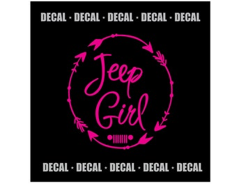 Jeep Girl Decal {Circled Arrows Design}