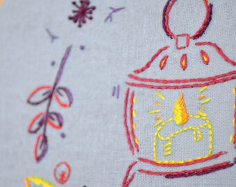 Hand Embroidery Patterns, diy craft projects, fall embroidery, autumn leaves, Thanksgiving crafts