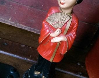 Vintage ABCO Mid Century Chalkware Figurine