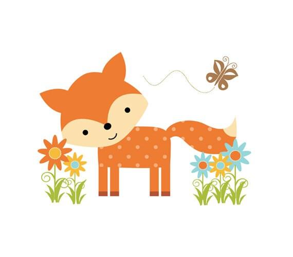 woodland fox decal forest animal baby nursery wall mural baby woodland animals clip art free online baby woodland animals clipart free