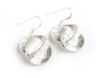 Handmade sterling silver harmony earrings