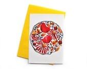 Floral Postcard, Greeting Card, Botanical Postcard, Floral Print, Watercolor Flowers