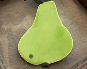 Ceramic Pear Plate Green Dish Fruit Spoon Rest Eco Friendly Material