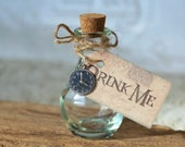 5 Tags And Bottles Favors Alice in Wonderland Party Favors Drink Me Bottle Drink Me Tags For Alice In Wonderland Party Tea Party Favors