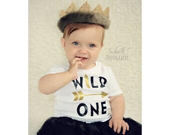 Wild One Shirt, 1st Birthday Shirt, Arrow Shirt, Wild Child, Wild & Free, Wild Boho Crown, Wild Rumpus, Smash Cake Outfit, Tribal Birthday