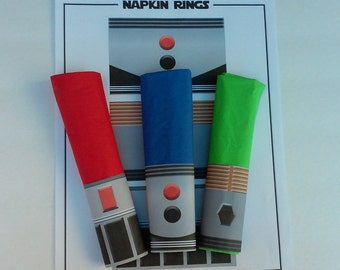 Star Wars Party Lightsaber Napkin Rings