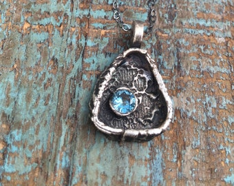 Lace Sky- fine silver necklace